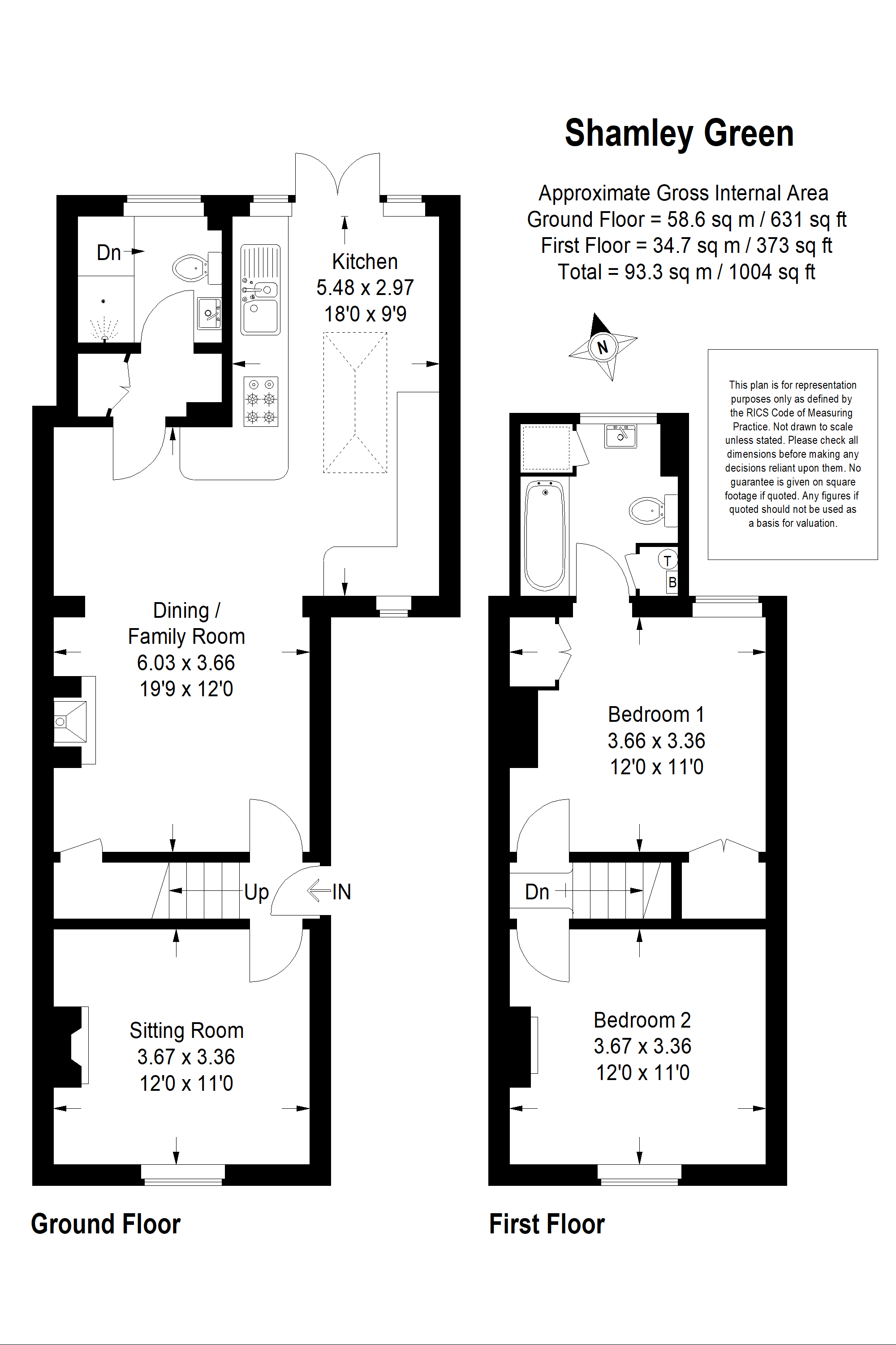 FloorPlan 3 Southview Cottages Sweetwater lane Shamley Green