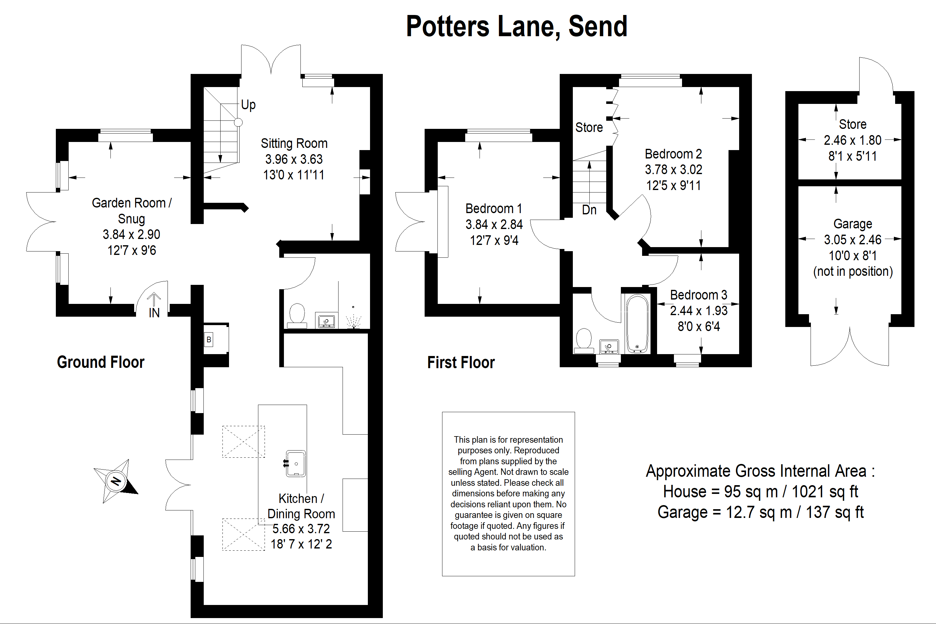 Floor plan 2 Send Cottages